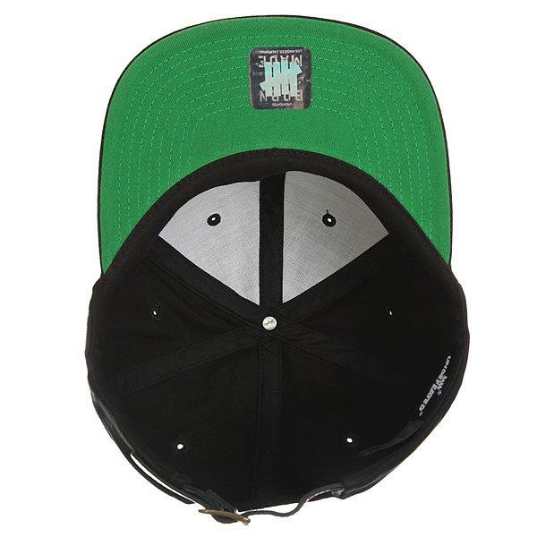 Бейсболка с прямым козырьком Undefeated 5 Strike Strapback Cap Black
