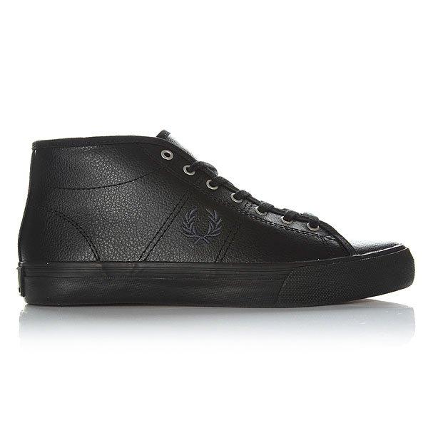 Кеды высокие женские Fred Perry Haydon Mid Leather Black