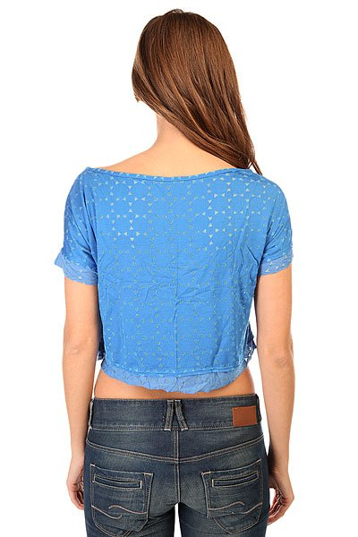 Топ женский CajuBrasil Croptop Spike Blue