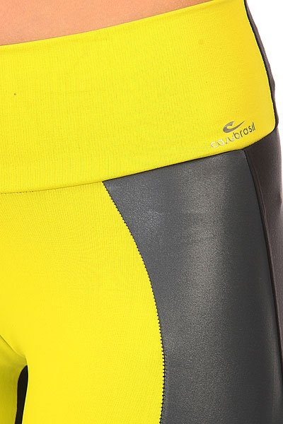 Леггинсы женские CajuBrasil Legging Supplex Black/Yellow