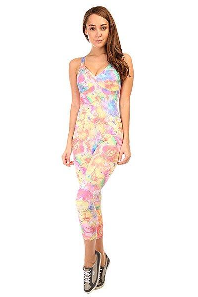 Комбинезон для фитнеса женский CajuBrasil Supplex Overall Multi/Pink/Beige