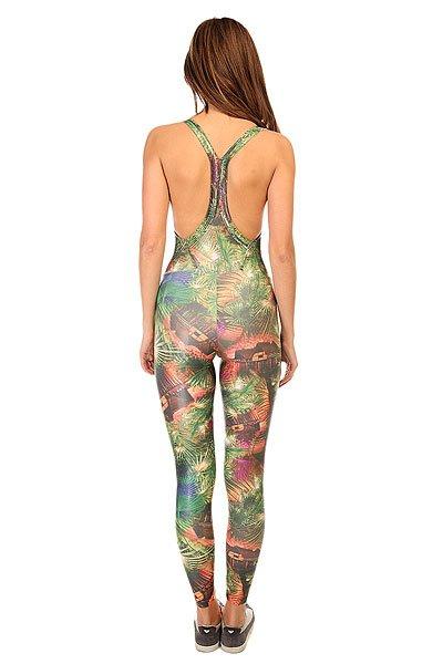 Комбинезон для фитнеса женский CajuBrasil Sirк Overall Multi/Palms