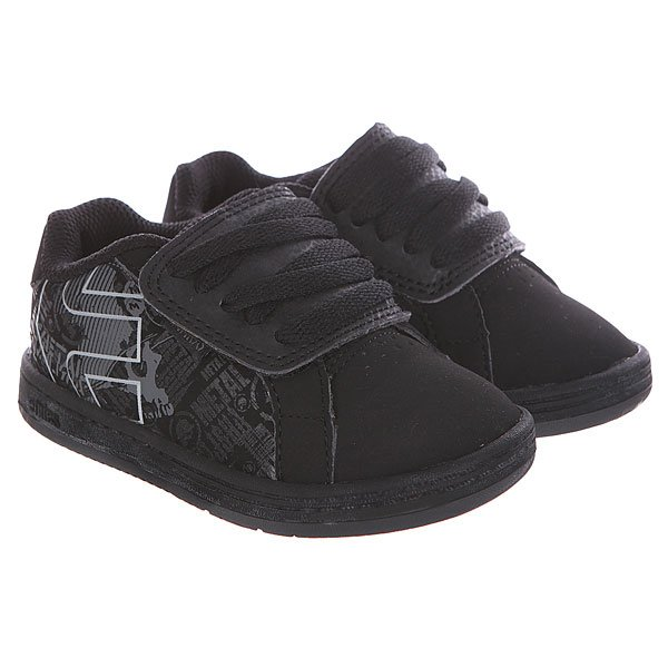 Кеды низкие детские Etnies Toddler Metal Mulisha Black/Dark Grey