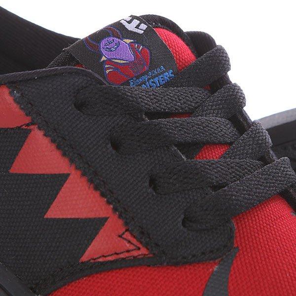 Кеды низкие детские Etnies Disney Monsters Black/Red