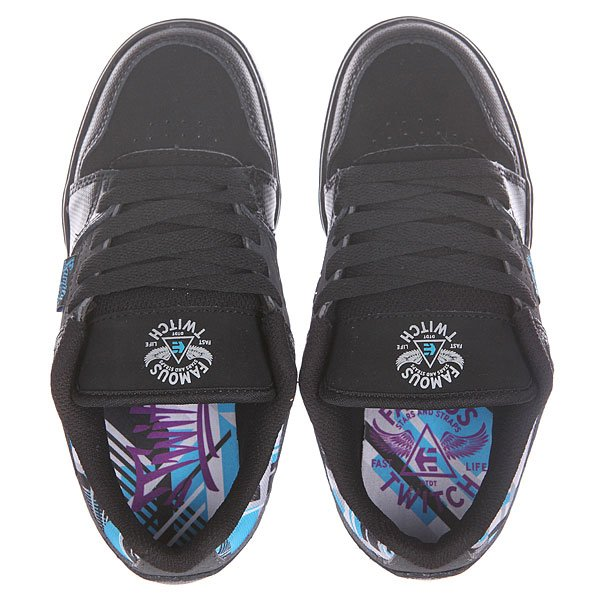 Кеды низкие детские Etnies Fsas X Twitch Black/Dark Grey