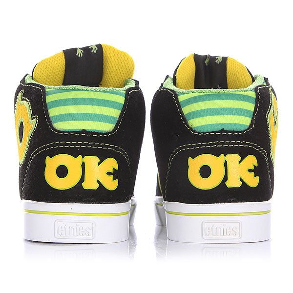 Кеды высокие детские Etnies Disney Monsters Rvm Black/Green/White