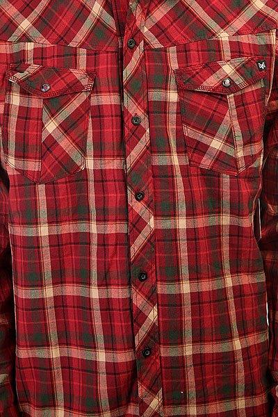 Рубашка в клетку Zoo York High Street Crimson