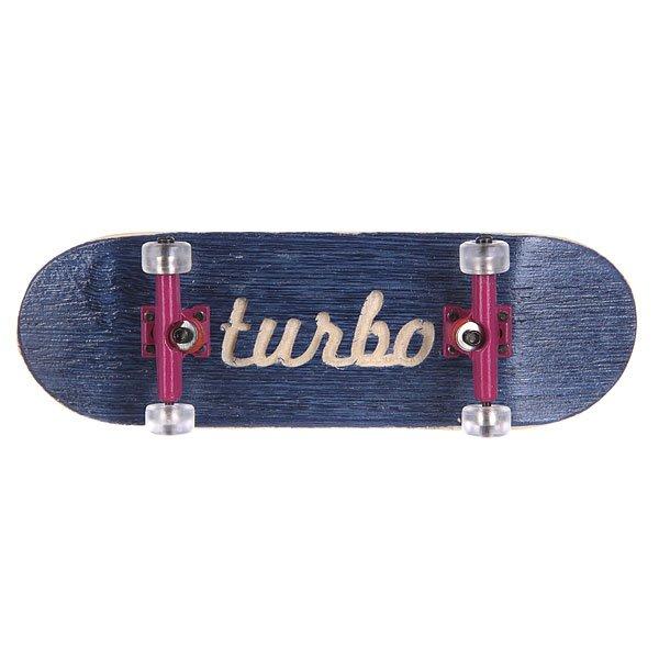 Фингерборд Turbo-FB П10 Гравировка Blue/Purple/Clear
