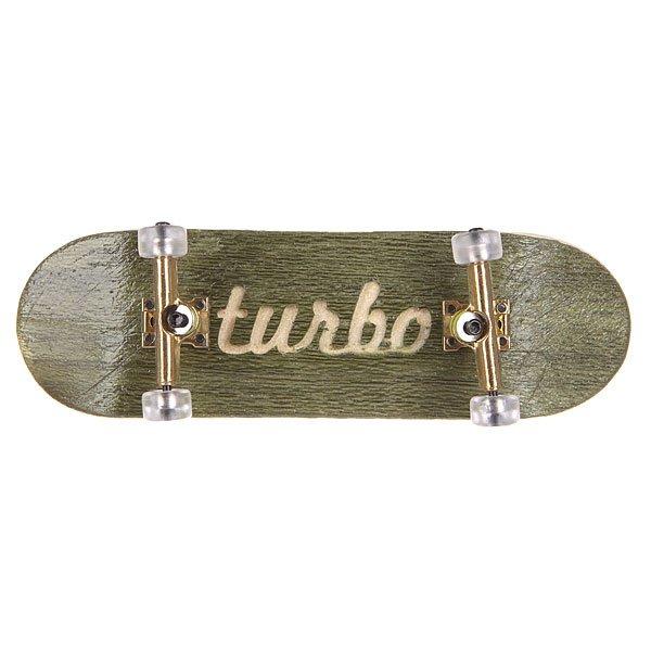 Фингерборд Turbo-FB П10 Гравировка Green/Gold/Clear