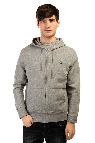 Толстовка классическая Fred Perry Loopback Hooded Sweat Gray