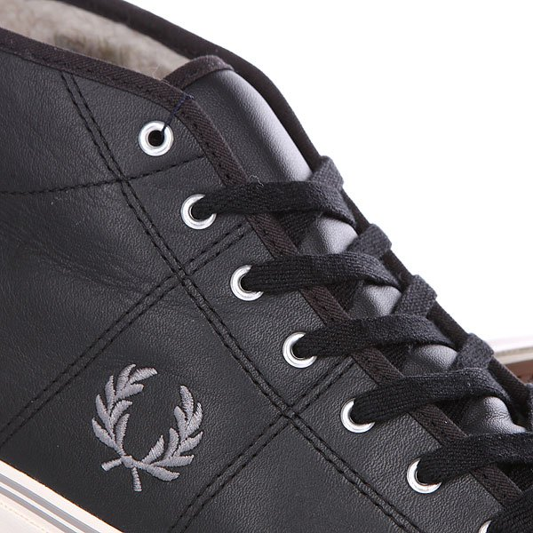 Кеды утепленные Fred Perry Haydon Mid Leather Black