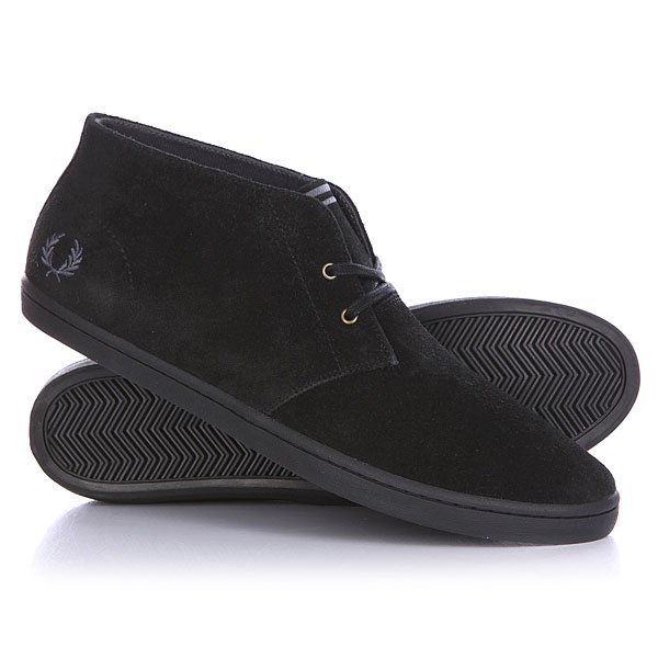 Кеды высокие Fred Perry Byron Mid Suede True Black