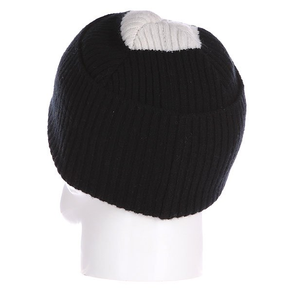 Шапка Fred Perry Striped Beanie Black/White