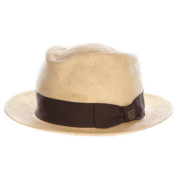Шляпа Brixton Baxter Fedora Tan/Brown