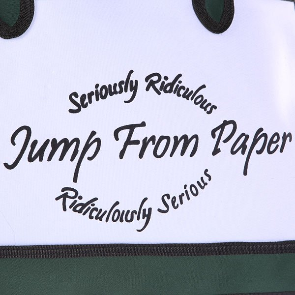 Сумка женская Jump from paper 2D Ridiculous Serious  Green/White/Black