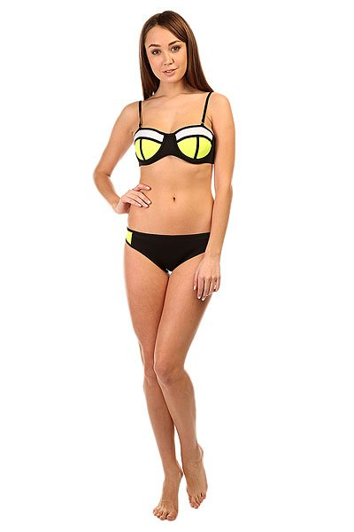 Купальник женский Look 2D Black/Yellow