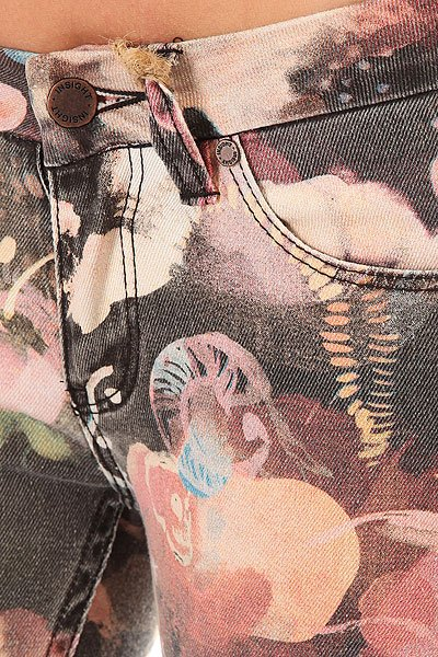 Джинсы узкие женские Insight Beanpole Skinny Art Watrecolor Black