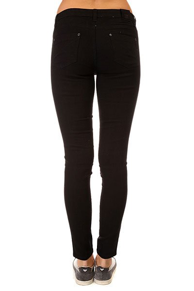 Джинсы узкие женские Insight Python Super Skinny Shorty Black Rinse