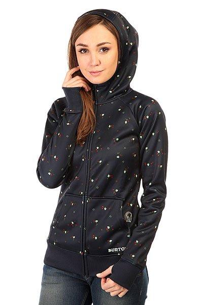 Толстовка сноубордическая женская Burton Wb Scoop Hdd Leaf Dot Print