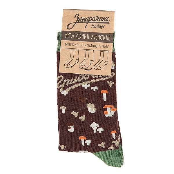 Носки средние женские Запорожец Грибочки Black
