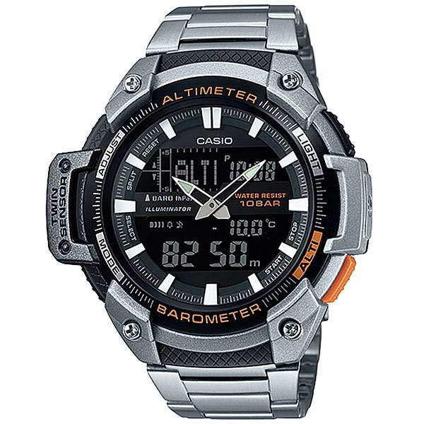 Часы Casio Collection Sgw-450hd-1b Silver/Black