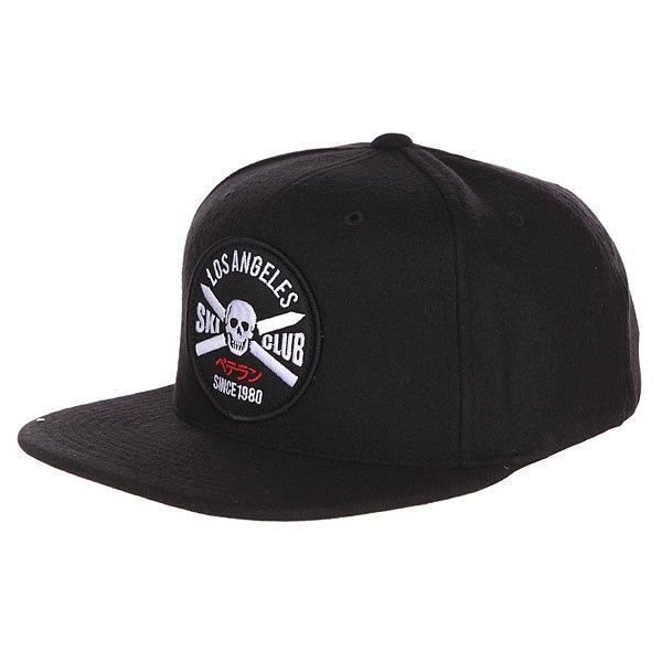Бейсболка с прямым козырьком Undefeated Club Snapback Black