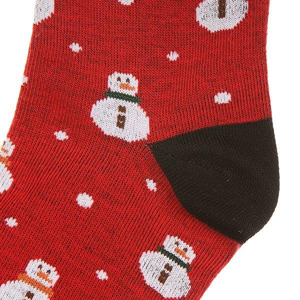 Носки средние женские Запорожец Снеговик Red/Black