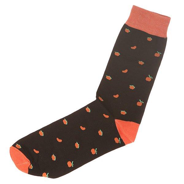 Носки средние Запорожец Апельсин Целый И Дольки Black/Orange