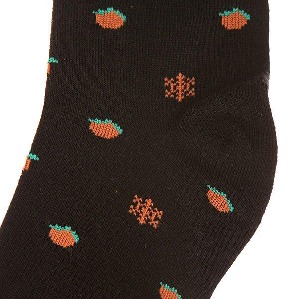 Носки средние женские Запорожец Апельсин И Снежинки Black/Orange