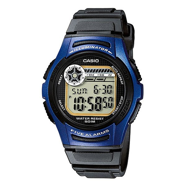 Электронные часы Casio Collection W-213-2a Black/Blue