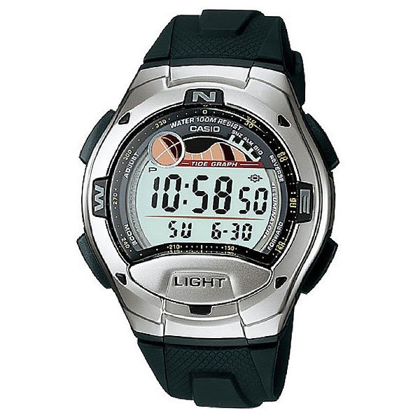 Электронные часы Casio Collection W-753-1a Silver/Dark Green