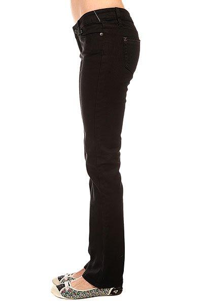 Джинсы прямые женские Zoo York Straight Leg Black Wash
