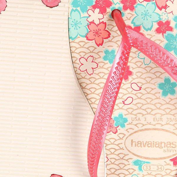 Вьетнамки детские Havaianas Slim Garden Beige/Pink/Flowers