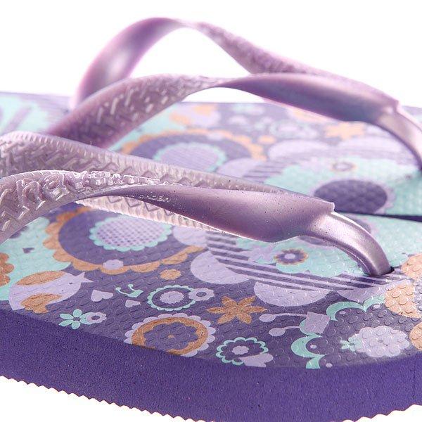 Вьетнамки детские Havaianas Flores Purple