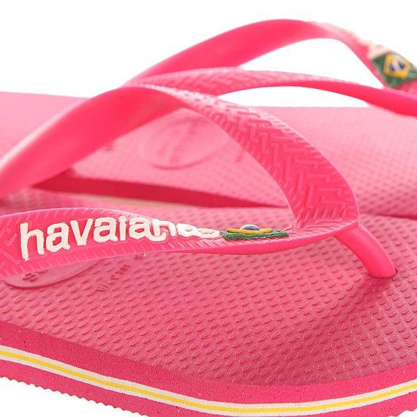 Вьетнамки Havaianas Brasil Logo Pink