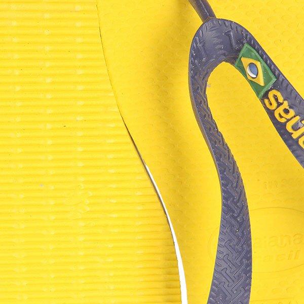 Вьетнамки Havaianas Brasil Logo Yellow/Blue