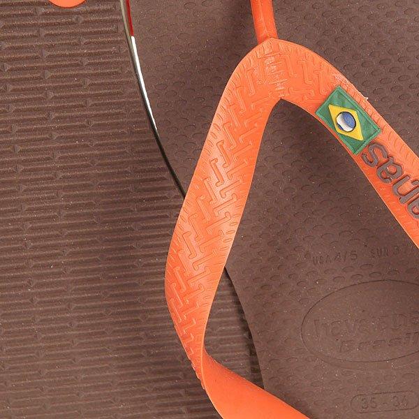 Вьетнамки Havaianas Brasil Logo Brown/Orange