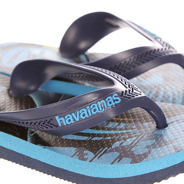 Вьетнамки детские Havaianas Max Herуis Blue/Light Blue/Multi