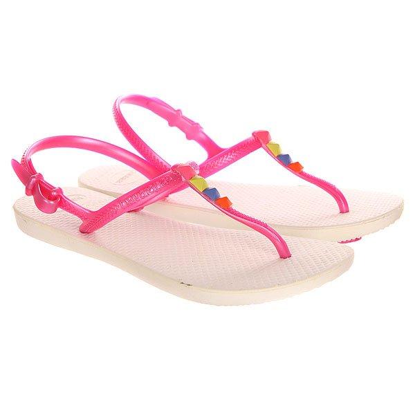 Шлепанцы детские Havaianas Freedom White/Pink