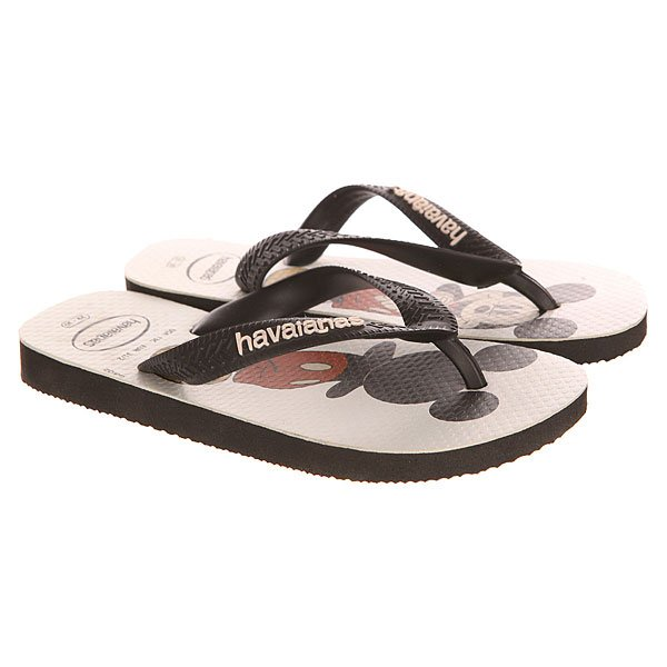 Вьетнамки детские Havaianas Disney Stylish Black/White