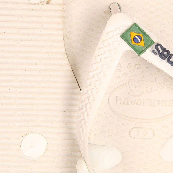 Шлепанцы детские Havaianas Brasil Logo White/Green