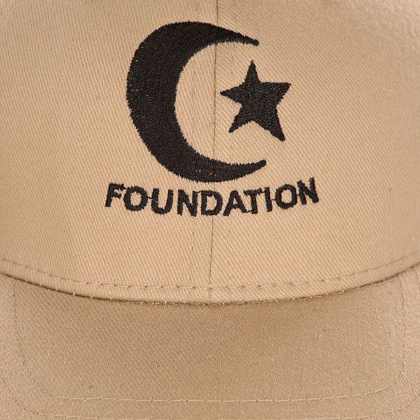 Бейсболка классическая детская Foundation Deathbox Cap Flexfit Biege