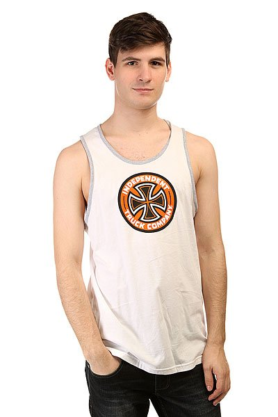 Майка Independent Colored T/C Tank White/Athletic Heather