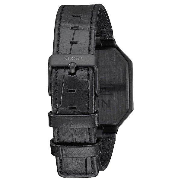 Электронные часы Nixon Re Run Leather Black Croc
