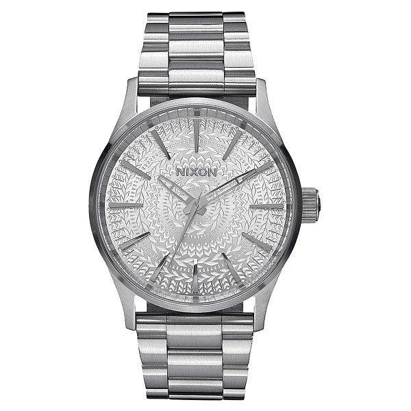 Кварцевые часы Nixon Sentry 38 Ss All Silver/Stamped