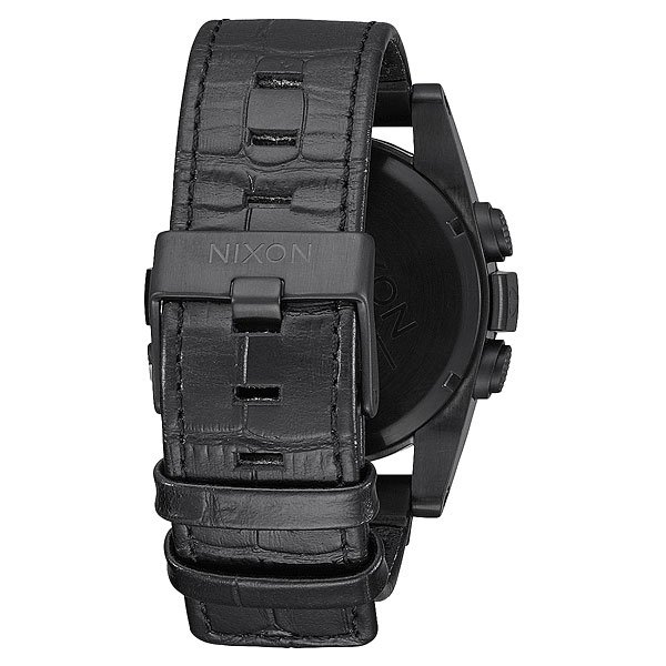Электронные часы Nixon Unit Leather Black Gator
