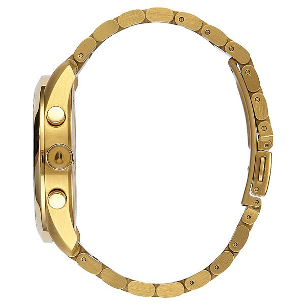 Кварцевые часы женские Nixon Bullet Chrono Crystal All Gold