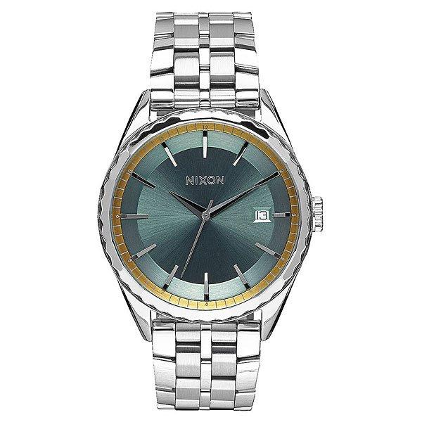 Кварцевые часы женские Nixon Minx Silver/Sage/Gold