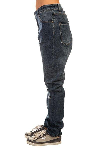 Джинсы широкие женские Roxy Sun Hw Des J Pant Dark Blue