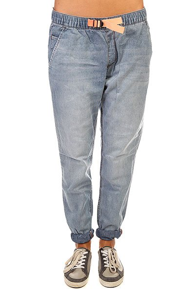 Штаны широкие женские Roxy Fonxy Denim J Pant Med Blue Wash